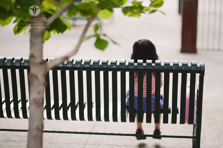 East-Bay-styled-children-photography-preschool-girl-sitting-on-bench
