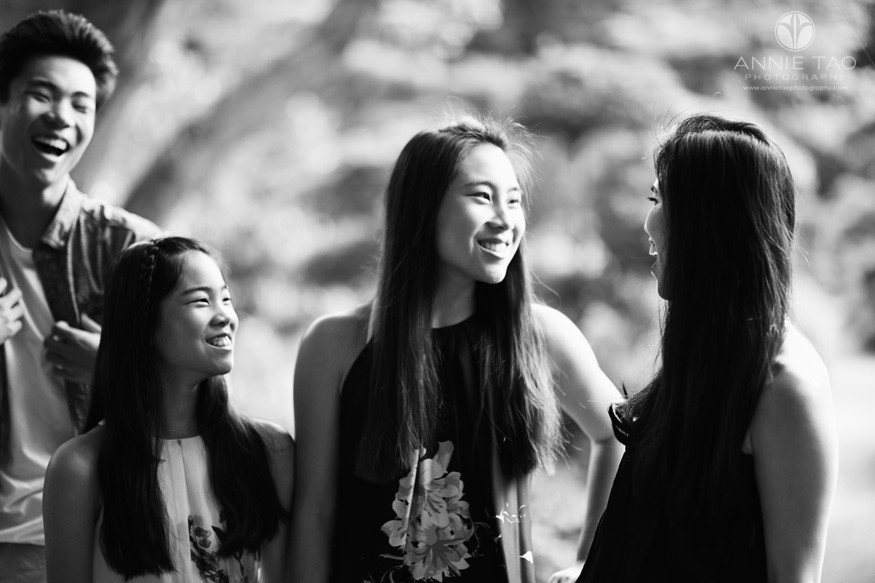 East-Bay-lifestyle-family-photography-three-teen-children-laughing-with-mom-BxW