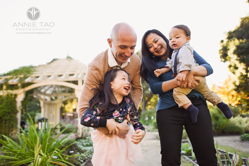 Bay-Area-lifestyle-family-photography-couple-playing-with-their-young-children-in-garden