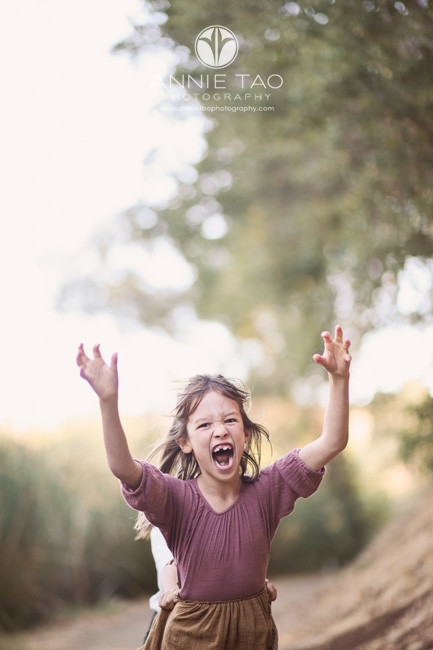 Bay-Area-lifestyle-children-photography-young-girl-running-forward-as-monster