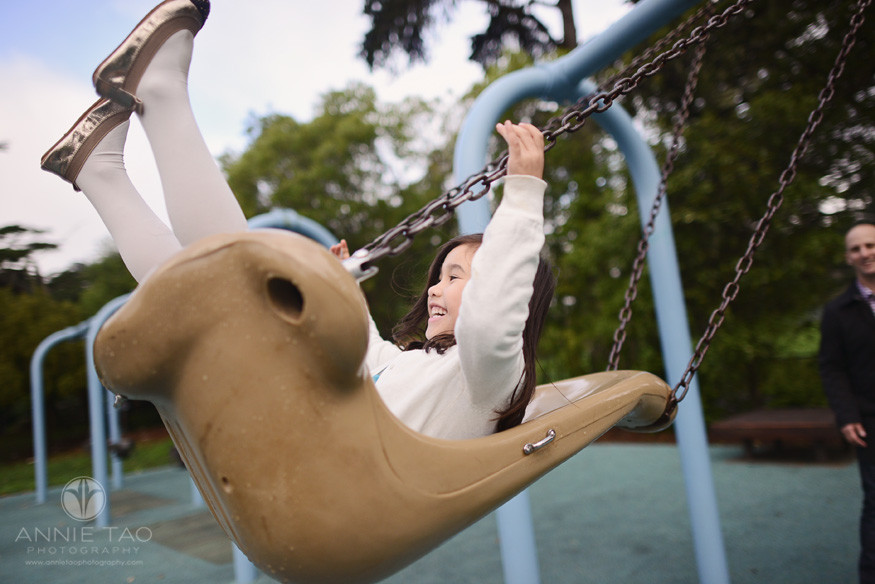 San-Francisco-lifestyle-children-photography-young-girl-laughing-on-swings