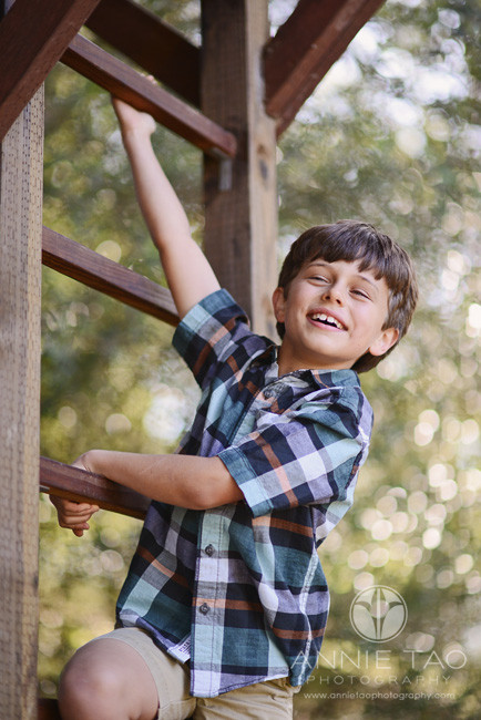 South-Bay-lifestyle-children-photography-young-boy-climbing-ladder-to-treehouse