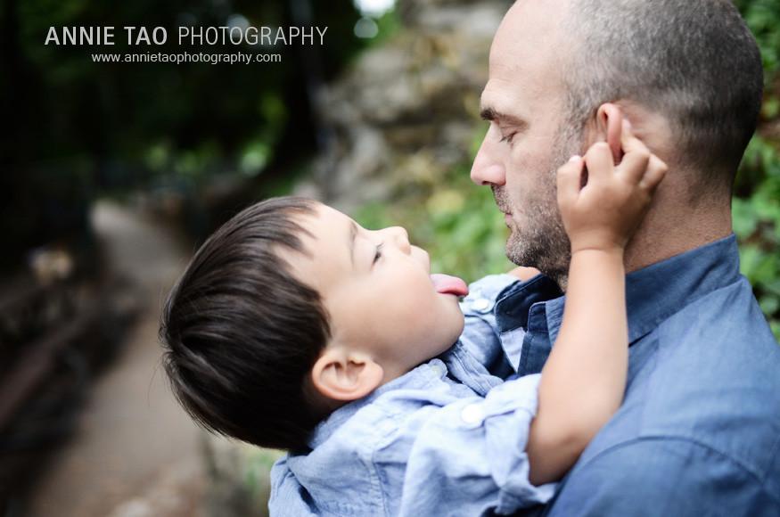 Berkeley-lifestyle-family-photography-boy-licking-dad