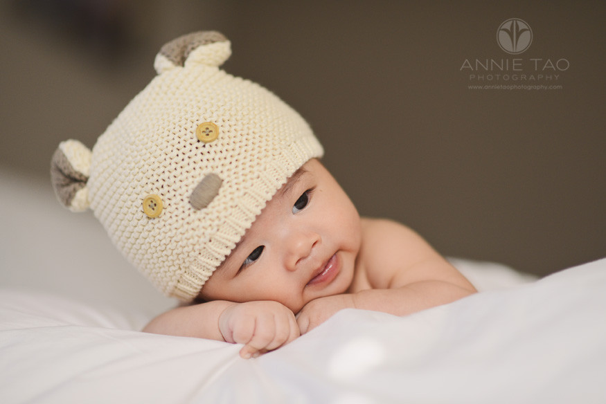 South-Bay-lifestyle-baby-photography-baby-boy-with-hat-laying-head-on-hands