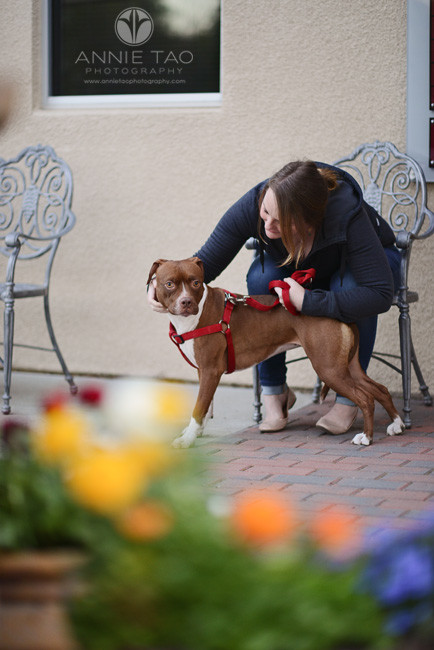 East-Bay-Commercial-Photography-Bishop-Ranch-Veterinary-client-waiting-with-her-dog