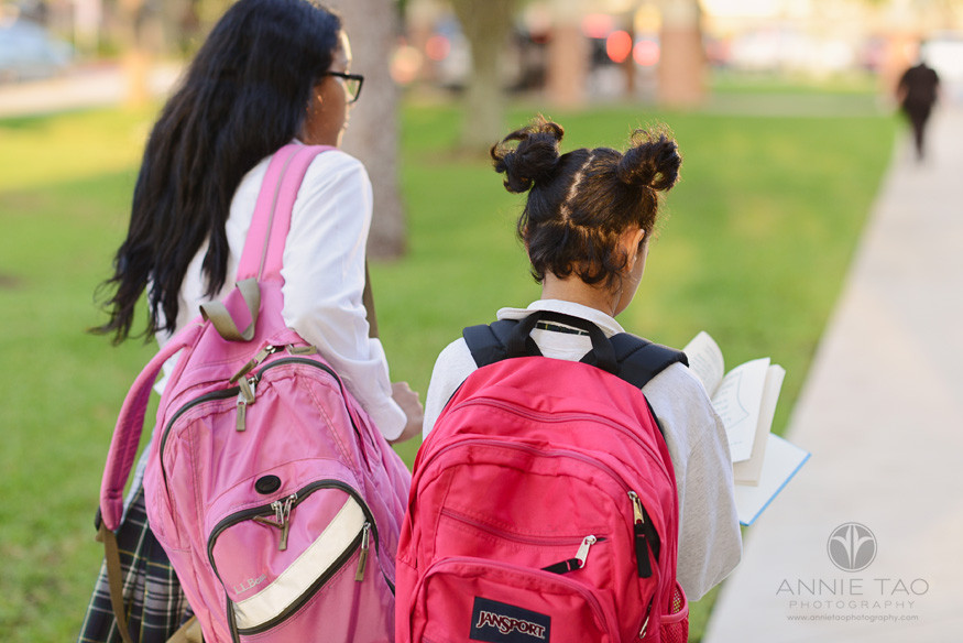 Commercial-education-photography-two-sisters-walking-to-school-with-book