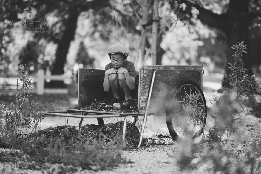 east-bay-styled-children-photography-boy-as-apple-on-wagon-bxw