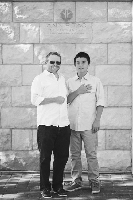 East-Bay-lifestyle-family-photography-father-and-son-standing-BxW
