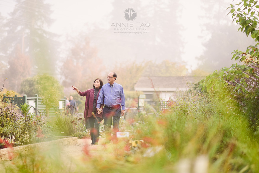 Bay-Area-lifestyle-couple-photography-senior-couple-walking-together-in-garden