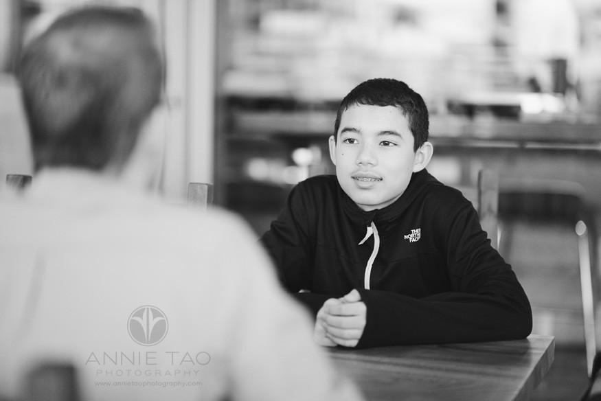 San-Francisco-lifestyle-family-photography-teen-son-looking-at-dad-across-the-table-BxW