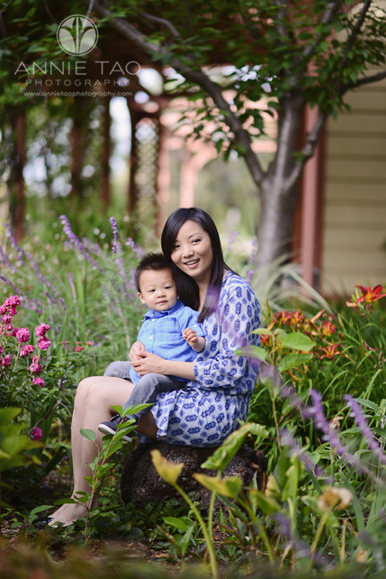 South-Bay-lifestyle-family-photography-mother-sitting-with-toddler-son-in-garden