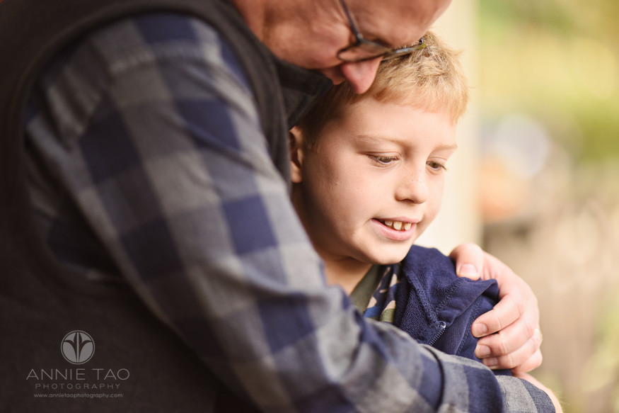 bay-area-los-altos-lifestyle-family-photography-young-boy-hugged-by-dad-closeup