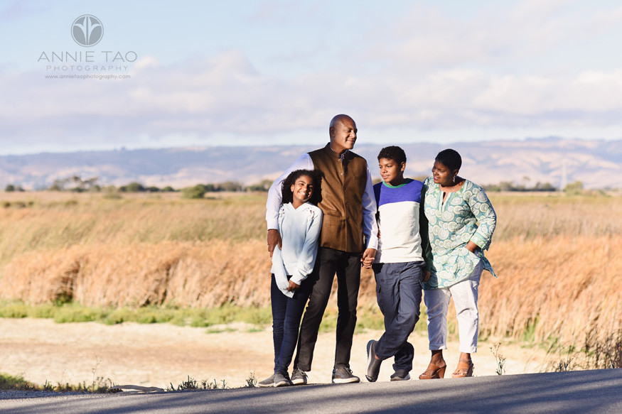 South-Bay-lifestyle-family-photography-standing-close-by-marsh-in-evening-light