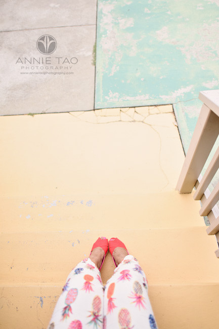 East-Bay-styled-photography-womans-legs-and-shoes-on-patio-downward-view