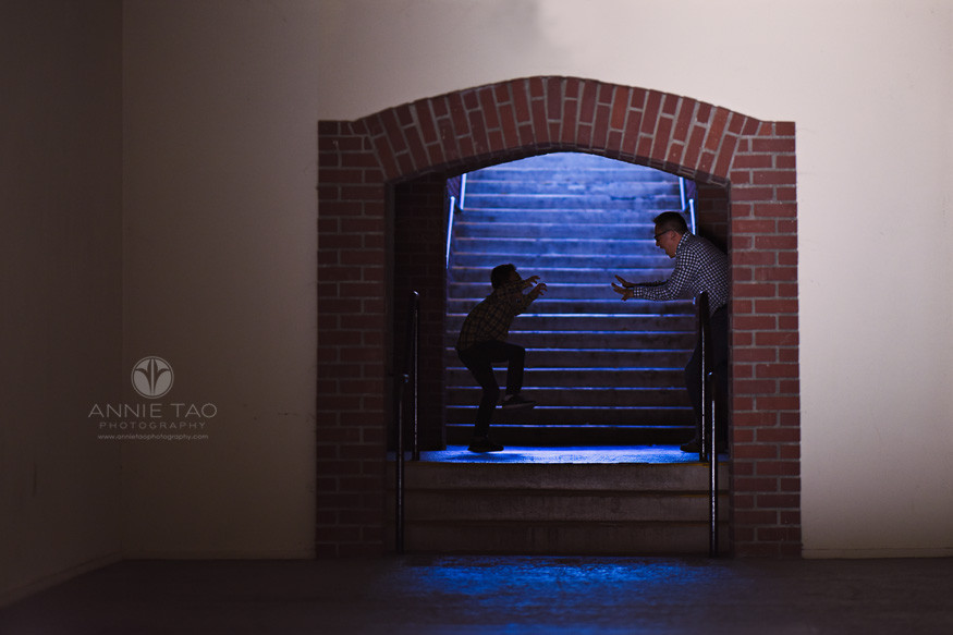 San-Francisco-Bay-Area-Los-Gatos-lifestyle-family-photography-father-and-son-playing-monsters