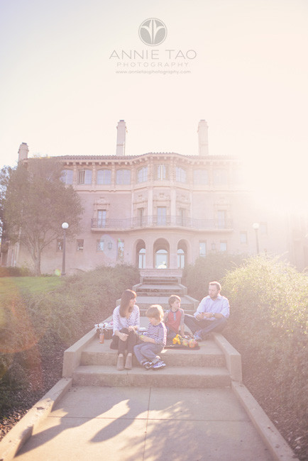 Bay-Area-styled-family-photography-family-having-a-picnic-under-blanket-of-sunlight