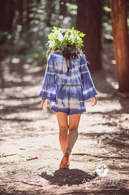 East-Bay-styled-photography-woodland-girl-walking-away-towards-forest