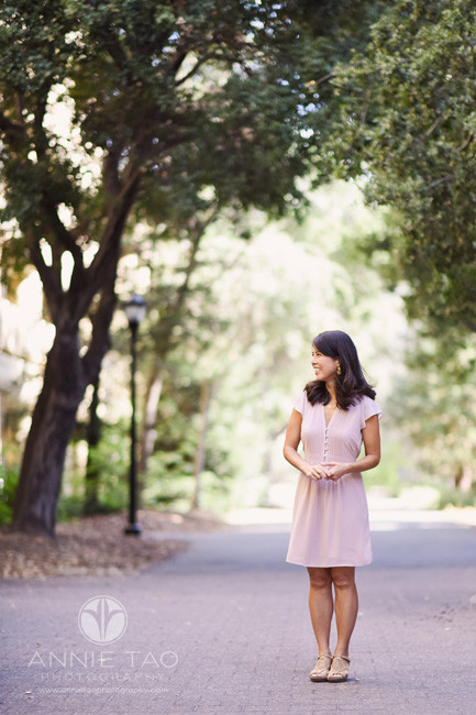 Bay-Area-lifestyle-photography-woman-in-pink-dress-standing-and-waiting