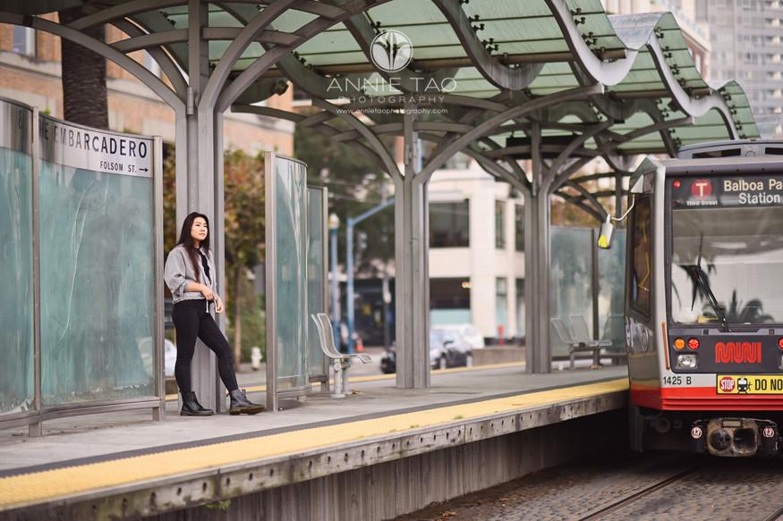 San-Francisco-senior-photography-teen-girl-at-muni-bus-stop