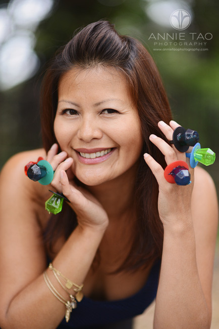 East-Bay-styled-photography-woman-wearing-giant-gemstone-rings-ringpops