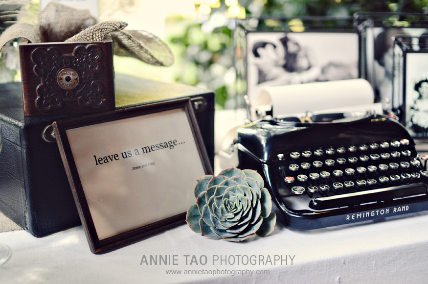 Los-Altos-Wedding-Photography-cocktail-hour-antique-typewriter-sign