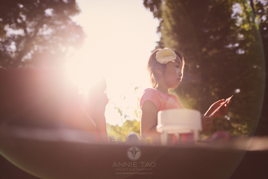San-Francisco-Bay-Area-Peninsula-lifestyle-children-photography-girls-playing-with-toy-food-with-sunflare
