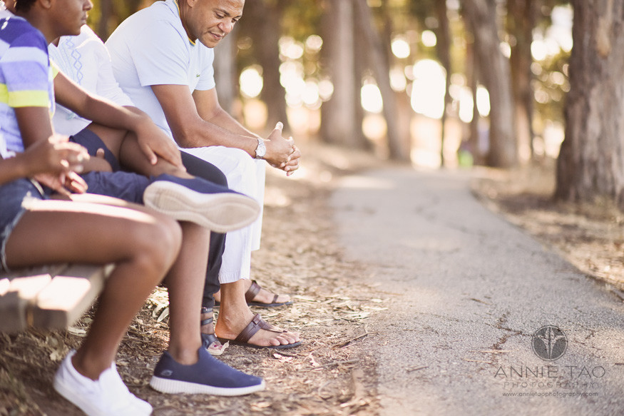 San-Francisco-Bay-Area-lifestyle-family-photography-resting-and-pondering-on-bench-by-woods