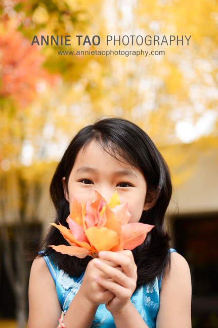 San-Francisco-Bay-Area-child-model-photography-holding-leaves-in-front-of-face