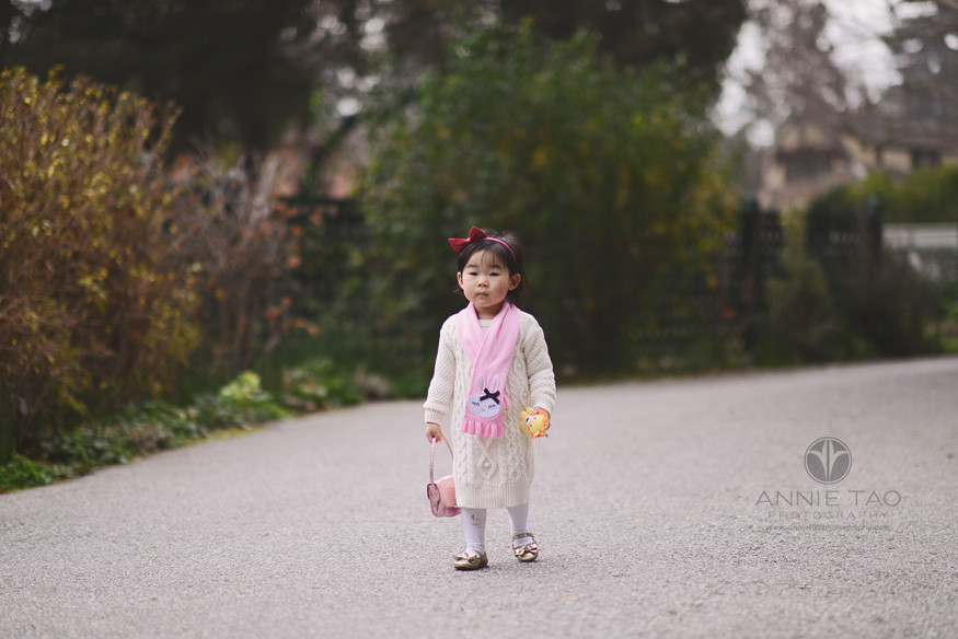 Bay-Area-Palo-Alto-lifestyle-children-photography-toddler-girl-with-scarf-and-purse-on-street