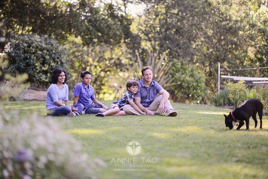 South-Bay-lifestyle-family-photography-family-in-the-backyard-with-their-dog