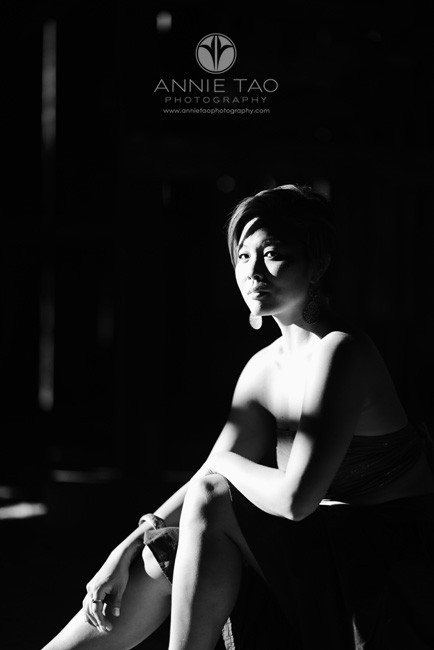 East-Bay-styled-photography-woman-with-short-hair-in-shadows-BxW