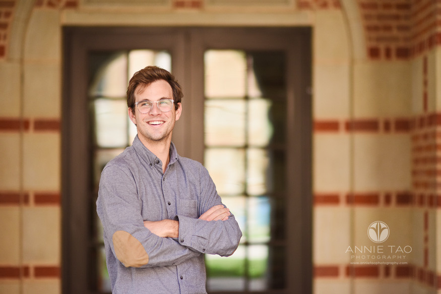 Houston-commercial-photography-male-business-school-student-smiling-in-hallway