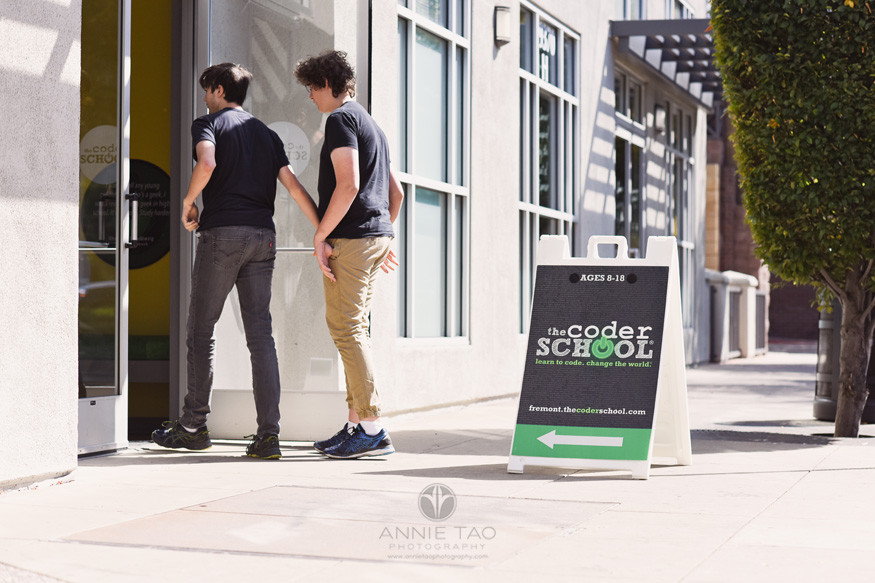 South-Bay-commercial-photography-teen-students-walking-inside-coding-school