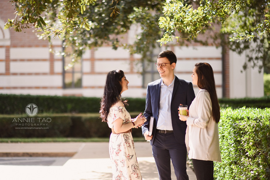 Commercial-Photography-Rice-Business-School-two-students-talking-to-professor-outside-before-class