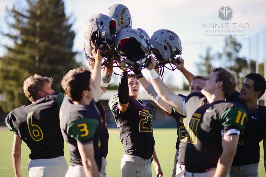 Bay-Area-Los-Altos-Commercial-Photography-high-school-football-team-cheering-with-helmets