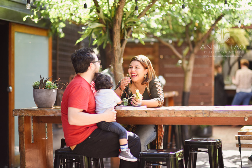 San-Francisco-commercial-photography-City-College-student-laughing-with-her-family-at-cafe