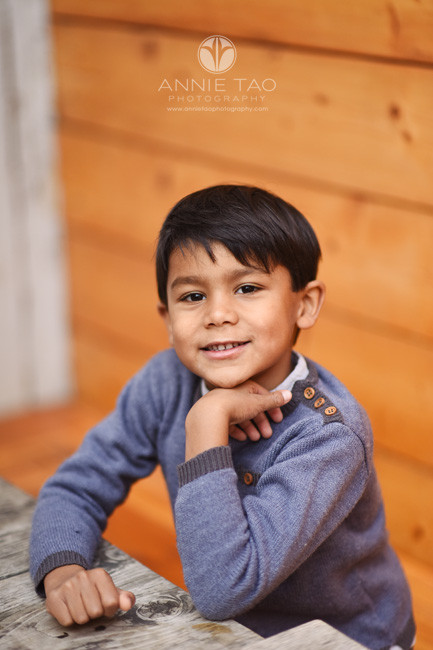 San-Francisco-lifestyle-children-photography-preschool-boy-in-sweater-leaning-on-table