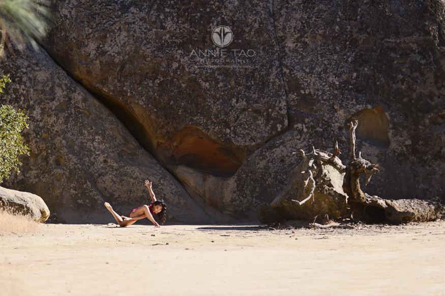 East-Bay-dance-photography-dancer-posing-like-tree-by-giant-rock