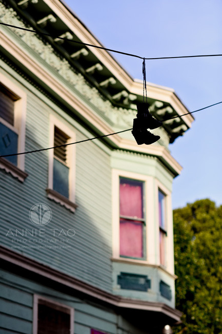 San-Francisco-lifestyle-photography-boots-hanging-on-wires-in-city