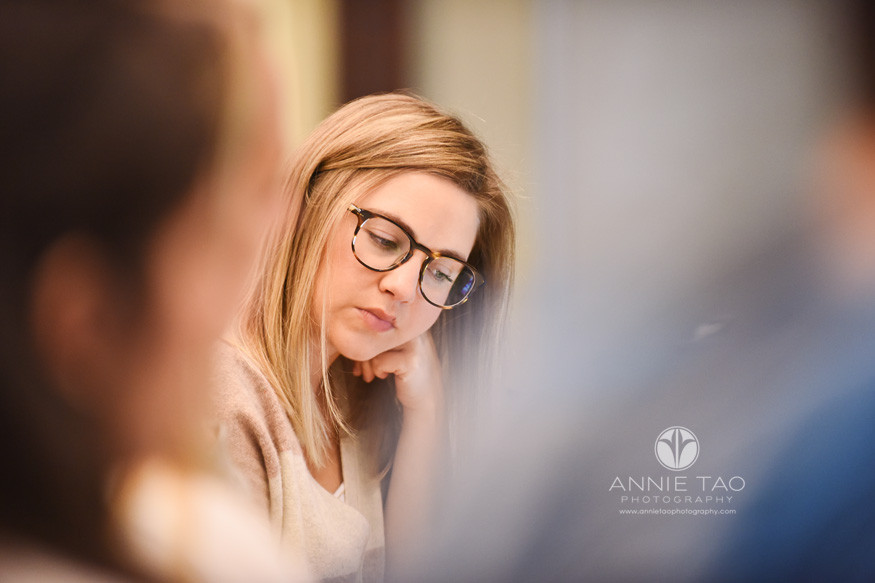 Houston-commercial-photography-female-business-school-concentrating-during-class