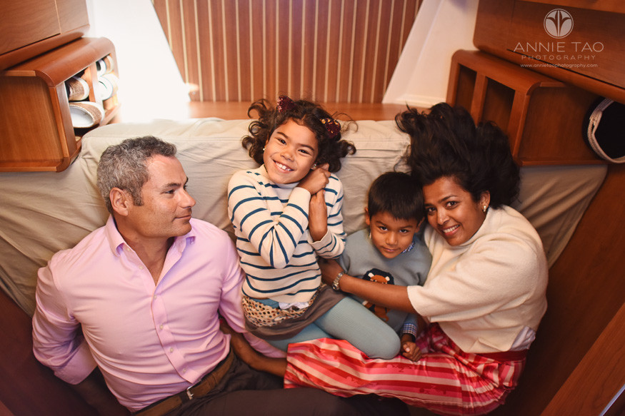San-Francisco-lifestyle-family-photography-laying-in-family-boat-bed
