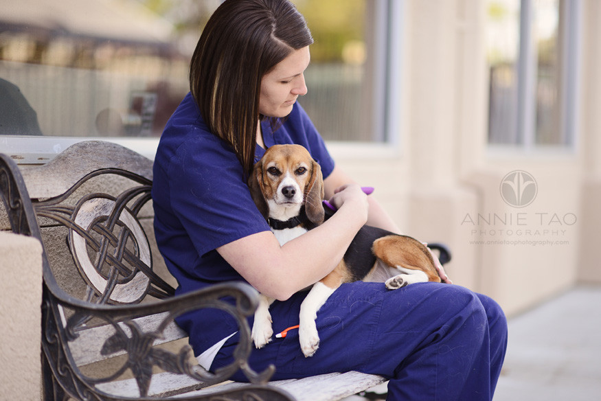 East-Bay-Commercial-Photography-Bishop-Ranch-Veterinary-technician-caring-for-boarding-pet