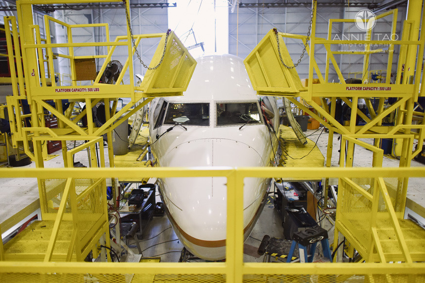 San-Francisco-commercial-photography-united-airlines-airplane-in-hangar