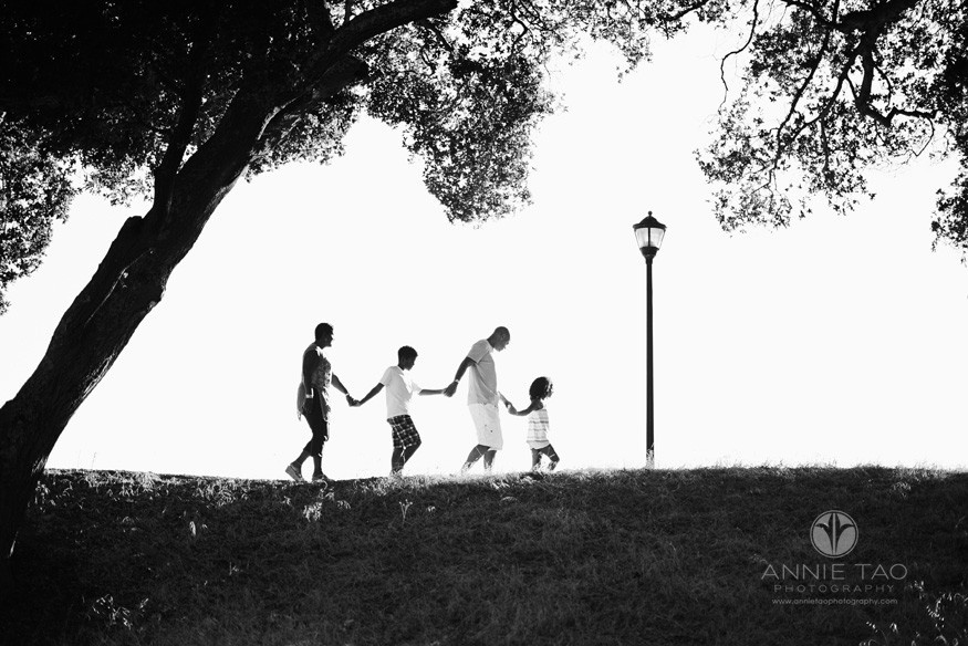 Bay-Area-lifestyle-family-photography-Family-walking-hand-in-hand-BxW