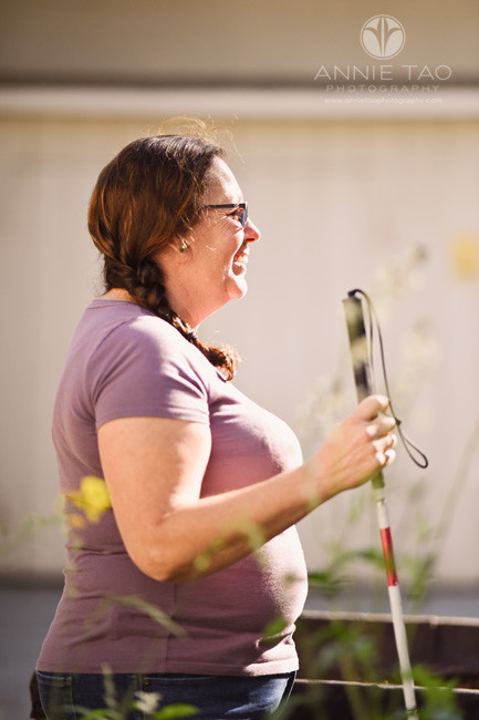 san-francisco-bay-area-commercial-photography-lifemoves-blind-woman-with-cane-in-garden