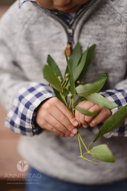 East-Bay-lifestyle-children-photography-young-boys-hands-holding-bouquet