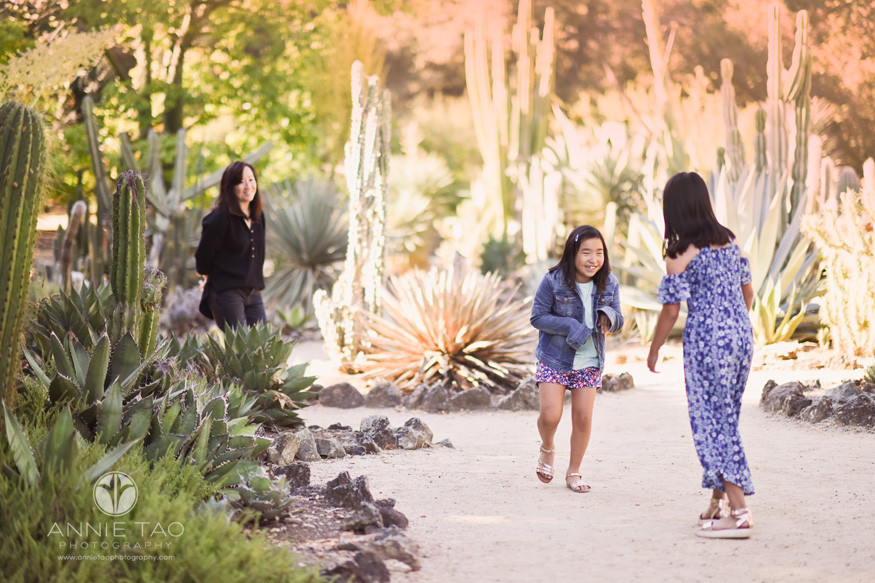 San-Francisco-Bay-Area-lifestyle-family-photography-mother-watches-daughters-playing-in-cactus-garden