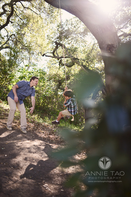 South-Bay-lifestyle-family-photography-dad-pushing-his-son-on-the-swing-3