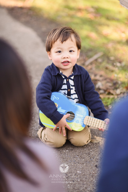 South-Bay-lifestyle-children-photography-parents-watching-toddler-son-play-ukelele