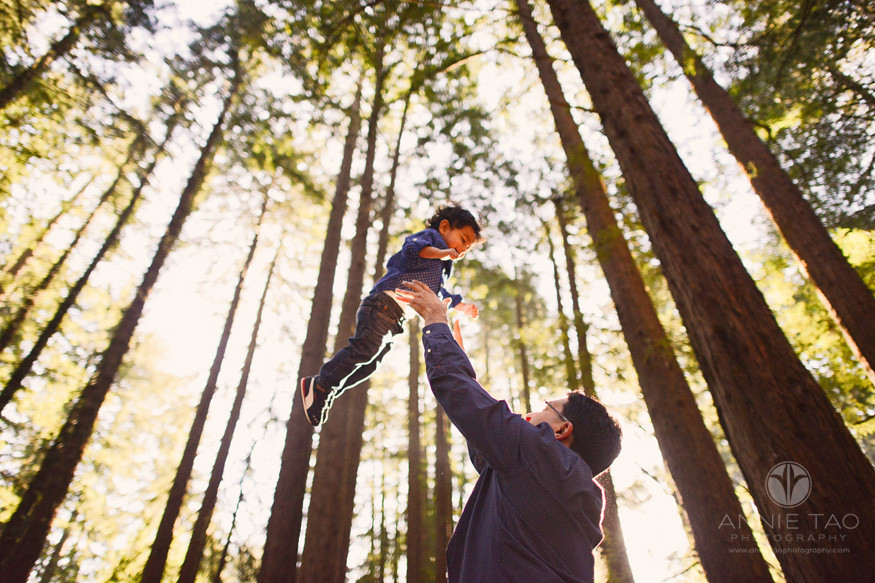 east-bay-lifestyle-family-photography-father-throwing-toddler-up-in-air-in-woods